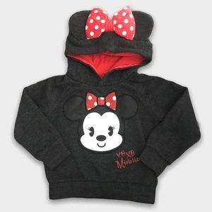 Disney Minnie Mouse Dark Gray Hoodie